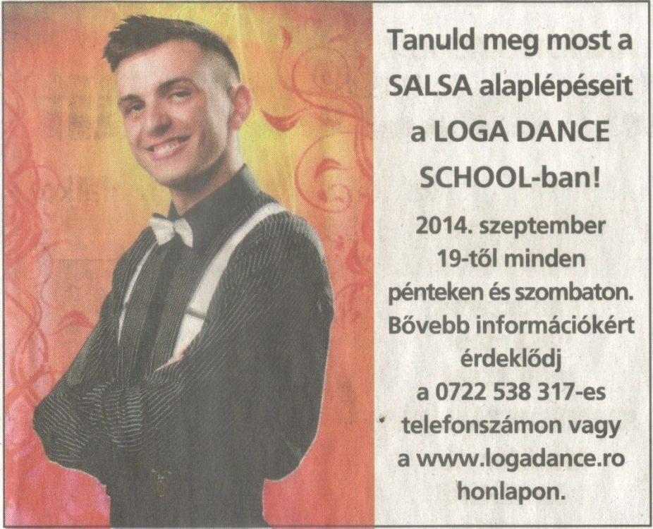 Tanuld meg most a SALSA alaplepeseit a Loga Dannce School-ban! (Friss Ujsag)