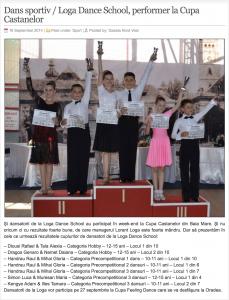 Dans sportiv / Loga Dance School, performer la Cupa Castanelor (gazetanord-vest.ro)