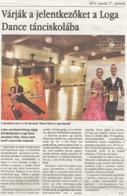 Varjak a jelentkezoket a Loga Dance School tanciskolaba (Magyar Hirlap)