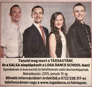 Jotekonysagi kampany -Loga Dance School 2014(Friss Ujsag)