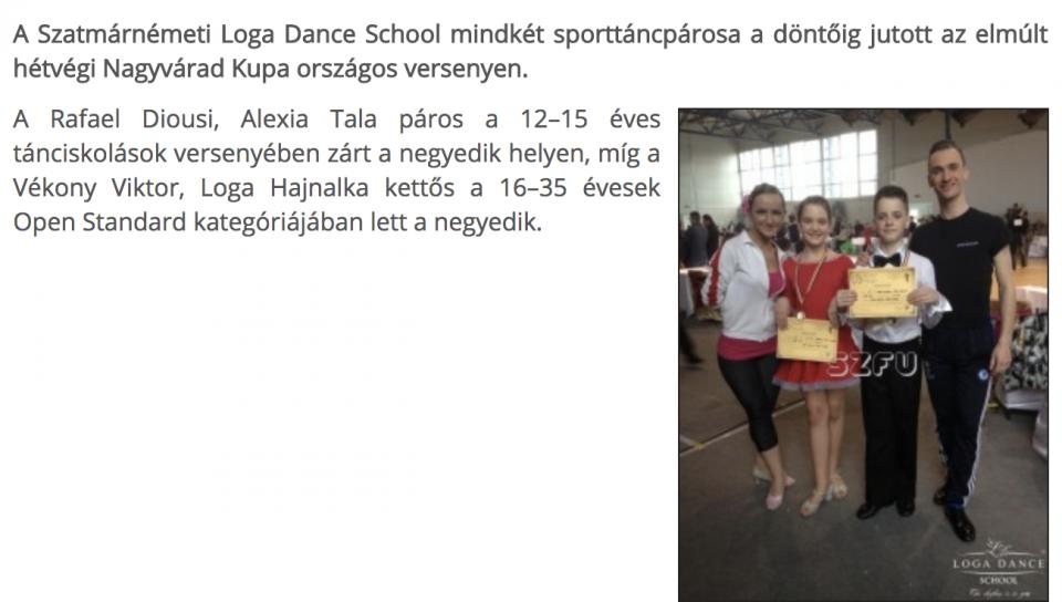 Dontosok a Loga Dance School sportoloi (frissujsag.ro)