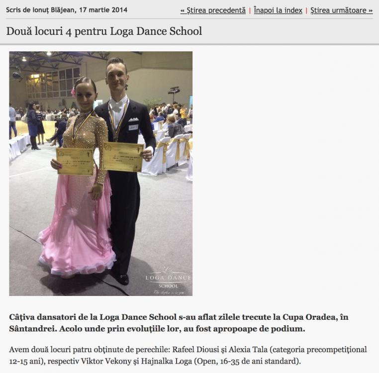 Doua locuri 4 pentru Loga Dance School (informatia-zilei.ro)