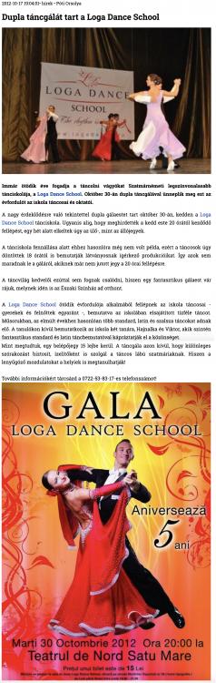 Dupla tancgalat tart a Loga Dance School (szatmar.ro)