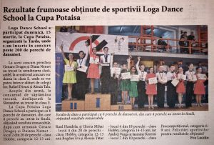 Rezultate frumoase obtinute de sportivii Loga Dance School la Cupa Potaisa (Informatia Zilei)
