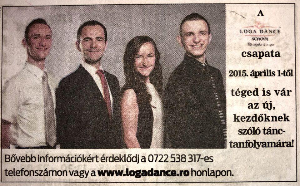A Loga Dance School csapata, 2015. Aprilis 1-tol, teged is var az uj, kezdoknek szolo, tanctanfolyamara! (Friss Ujsag)