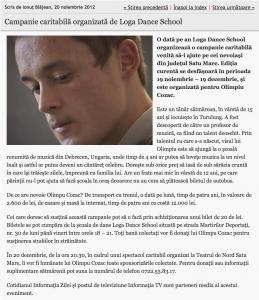 Campanie caritabila organizata de Loga Dance School (informatia-zilei.ro)