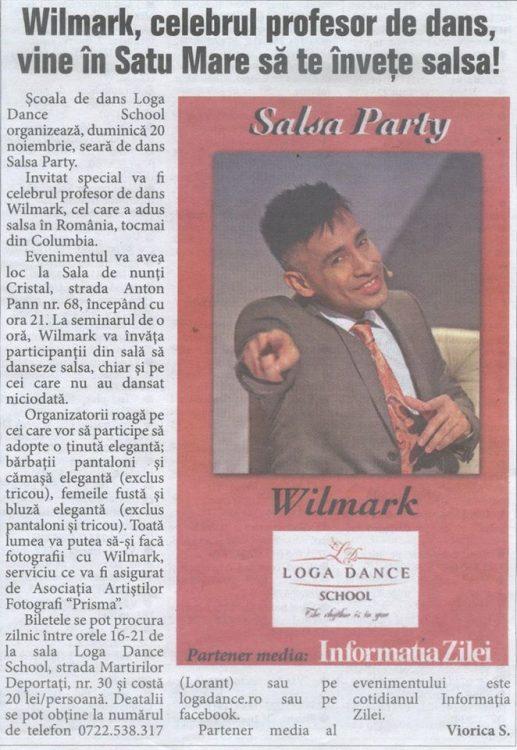 Wilmark, celebrul profesor de dans, vine in Satu Mare sa te invete salsa! (Informatia Zilei)