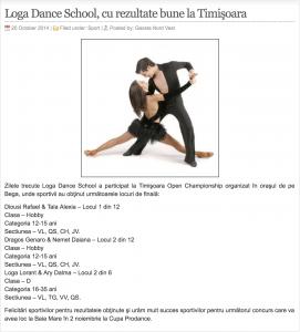 Loga Dance School, cu rezultate bune la Timisoara (gazetanord-vest.ro)