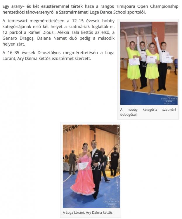 Rangos temesvari versenyen alltak dobogora (frissujsag.ro)