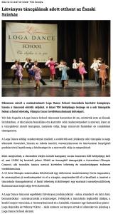 Latvanyos tancgalanak adott otthont az Eszaki Szinhaz (szatmar.ro)