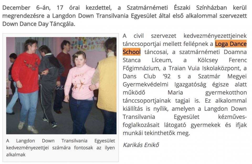 Tancgala a Down Transilvania Egyesulet szervezeseben (friss-ujsag.ro)