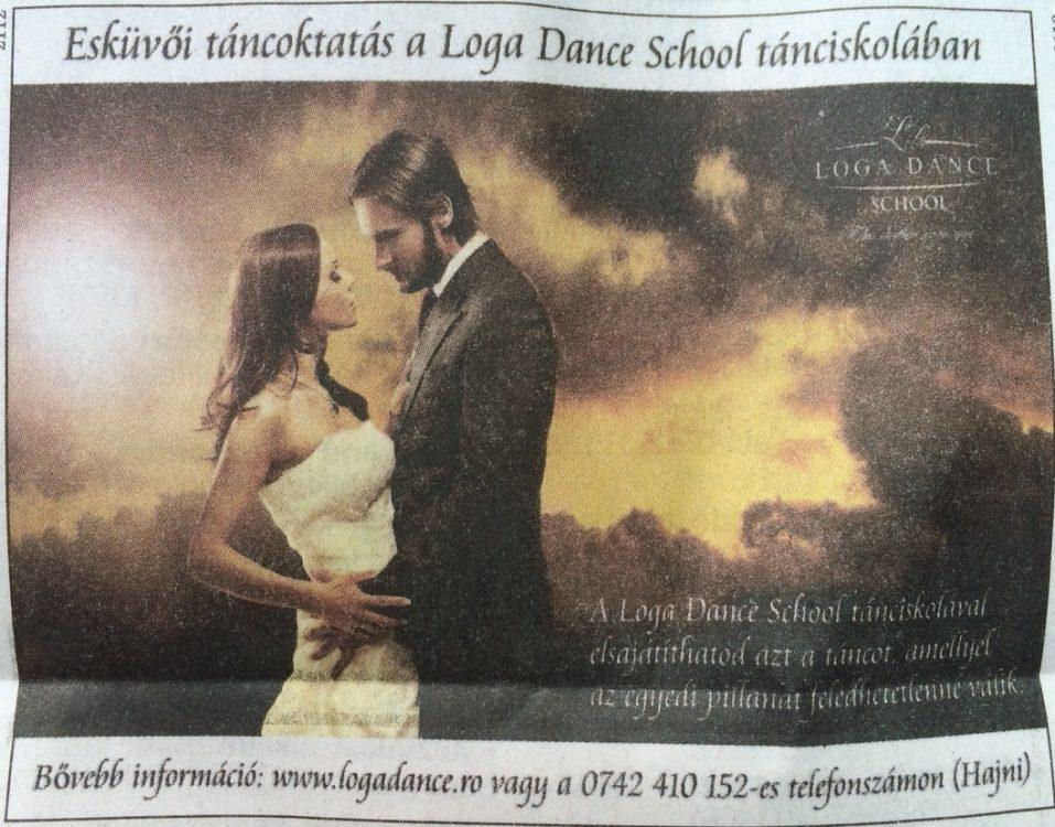Eskuvoi tancoktatas a Loga Dance School tanciskolaban (Friss Ujsag)