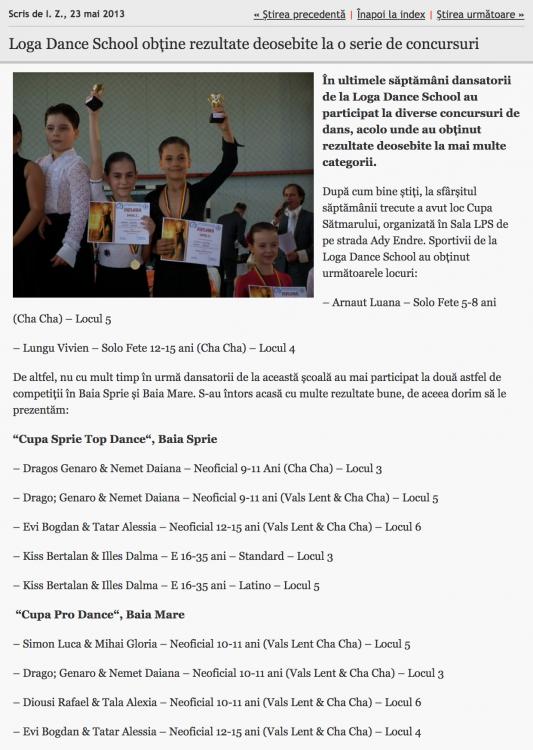 Loga Dance School obtine rezultate deosebite la o serie de concursuri (informatia-zilei.ro)