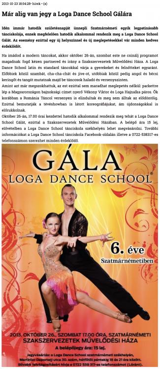 Mar alig van jegy a Loga Dance School Galara (szatmar.ro)