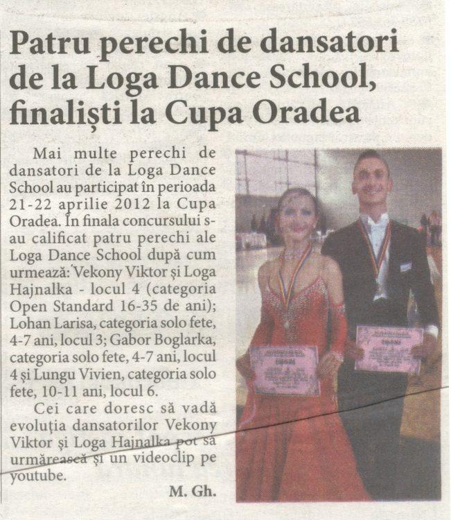 Patru perechi de dansatori de la Loga Dance School, finalisti la Cupa Oradea (Informatia Zilei)