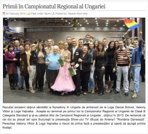 Primii in Campionatul Regional al Ungariei (gazetanord-vest.ro)