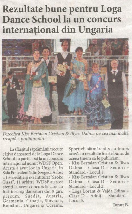 Rezultate bune pentru Loga Dance School la un concurs international din Ungaria (Informatia Zilei)