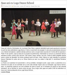 Sase ani cu Loga Dance School (gazetanord-vest.ro)
