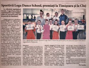 Sportivii Loga Dance School, premiati la Timisoara si la Cluj (Informatia Zilei)