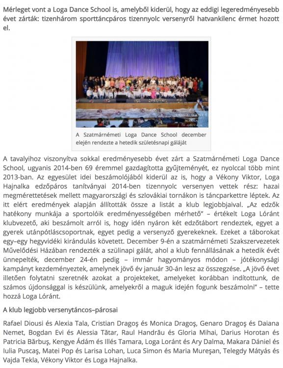 69 erem iden a Loga tancosainak(frissujsag.ro)