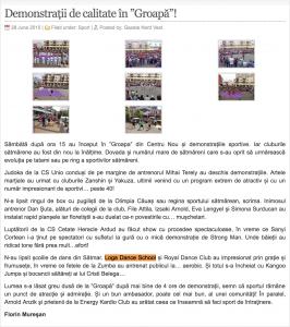 """Demonstratii de calitate in """"Groapa""""! (gazetanord-vest.ro)"""