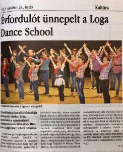 Evfordulot unnepelt a Loga Dance School (Magyar Hirlap)