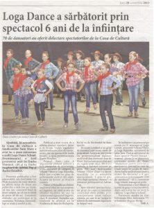 Loga Dance School a sarbatorit prin spectacol 6 ani de la infiintare (Informatia Zilei)