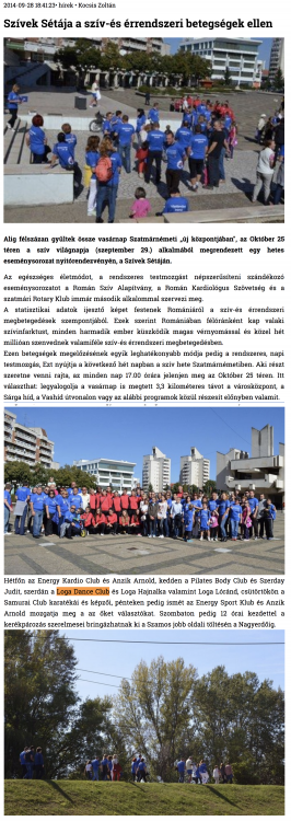 Szivek Setaja a sziv-es errendszeri betegsegek ellen (szatmar.ro)