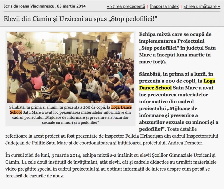 """Elevii din Camin si Urziceni au spus """"Stop pedofiliei!"""" (informatia-zilei.ro)"""