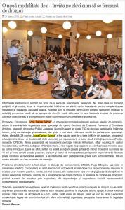O noua modalitate de a-i invata pe elevi cum sa se fereasca de droguri (gazetanord-vest.ro)
