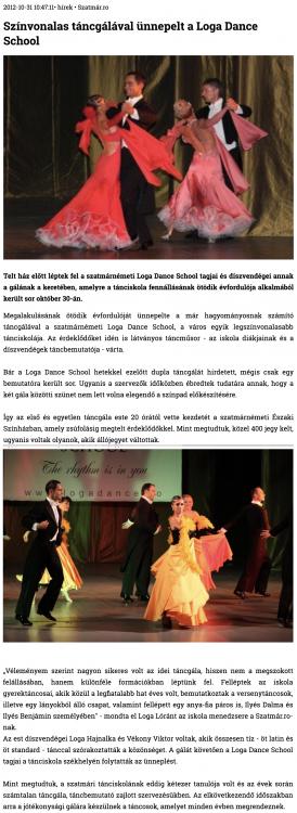 Szinvonalas tancgalaval unnepelt a Loga Dance School (szatmar.ro)
