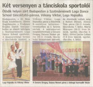 Ket versenyen a tanciskola sportoloi (Friss Ujsag)