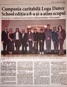 Campania caritabila Loga Dance School editia a 8-a si-a atins scopul (Informatia Zilei)