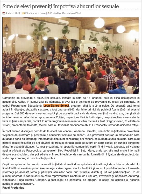 Sute de elevi preveniti impotriva abuzurilor sexuale (gazetanord-vest.ro)