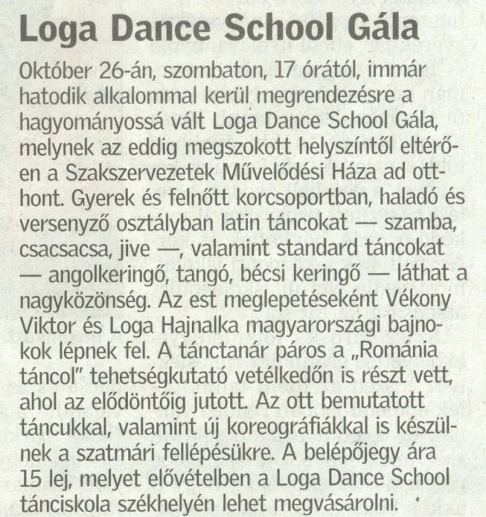 Loga Dance School Gala (Friss Ujsag)