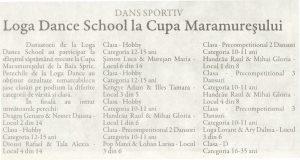 Dans sportiv / Loga Dance School la Cupa Maramuresului (Gazeta de Nord Vest)