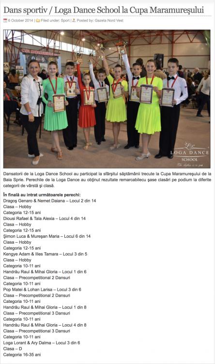 Dans sportiv / Loga Dance School la Cupa Maramuresului (gazetanord-vest.ro)