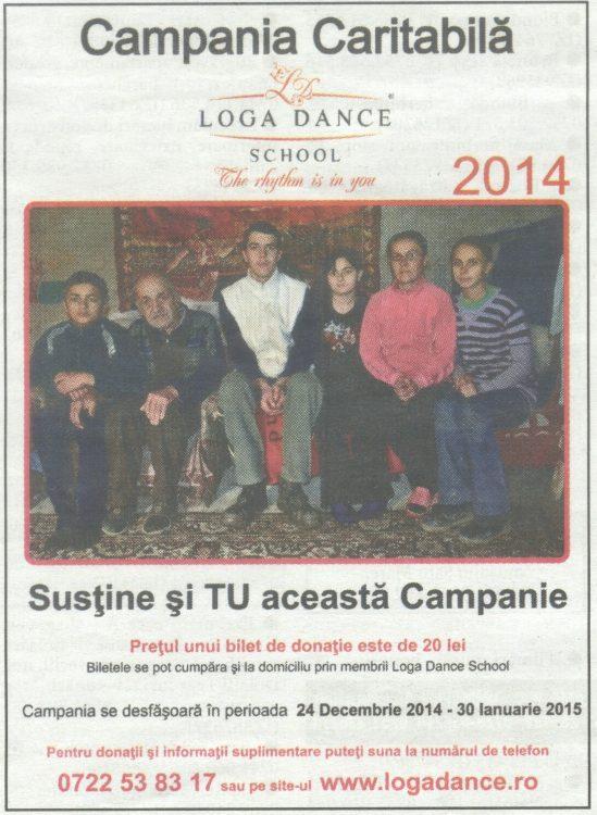 Campania Caritabila Loga Dance School 2014 (Informatia Zilei)