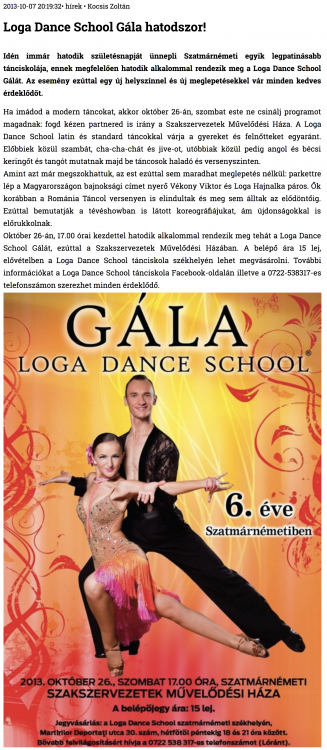 Loga Dance School Gala hatodszor! (szatmar.ro)