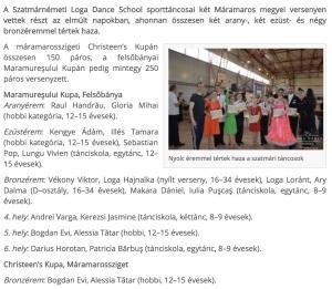 Ket versenyen a Loga Dance School sporttancosai(frissujsag.ro)