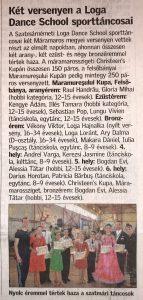 Ket versenyen a Loga Dance School sporttancosai(Friss Ujsag)