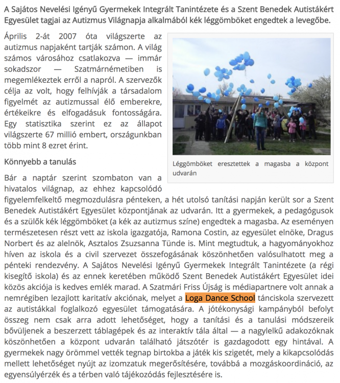 Vilagnap az autistakert(frissujsag.ro)