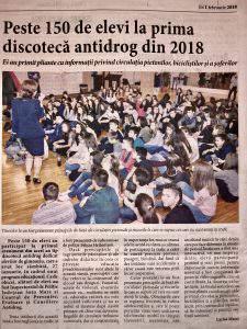 Peste 150 de elevi la prima discoteca antidrog din 2018 (Informatia Zilei)