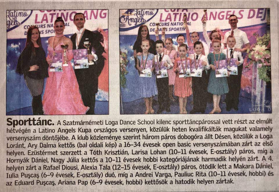 Jol teljesitettek a Loga Dance School tancosai(Friss Ujsag)