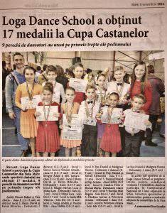 Loga Dance School a obtinut 17 medalii la Cupa Castanelor (Informatia Zilei)