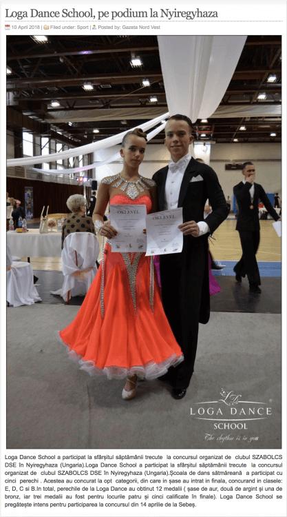 Loga Dance School, pe podium la Nyiregyhaza (gazetanord-vest.ro)