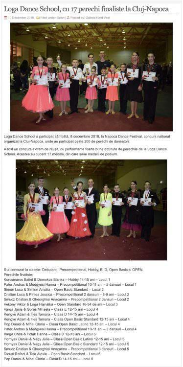 Loga Dance School, cu 17 perechi finaliste la Cluj-Napoca (gazetanord-vest.ro)