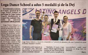 Loga Dance School a adus 5 medalii si de la Dej (Informatia Zilei)