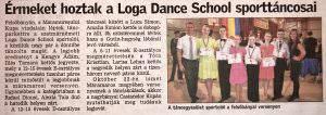 Ermeket hoztak a Loga Dance School sporttancosai(Friss Ujsag)