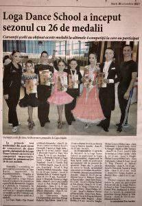 Loga Dance School a inceput sezonul cu 26 de medalii (Informatia Zilei)